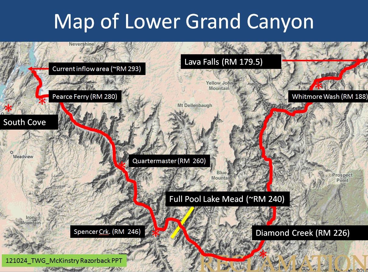 File:Map of Lower Grand Canyon- USBR.jpg - Glen Canyon Dam AMP